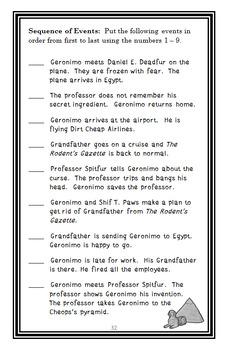 Geronimo Stilton BUNDLE : 3 Novel Studies - Books #1 through #3   (113 pages)