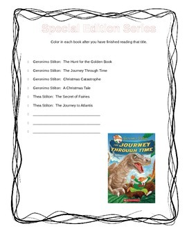 Geronimo Stilton Reader Check-off Lists and Completion Certificate