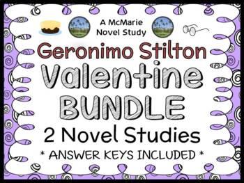 Geronimo Stilton Valentine's Day BUNDLE: 2 Novel Studies/