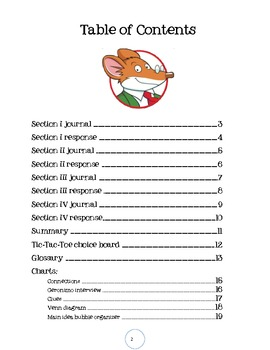 Geronimo Stilton's The Enormouse Pearl Heist Unit Journal