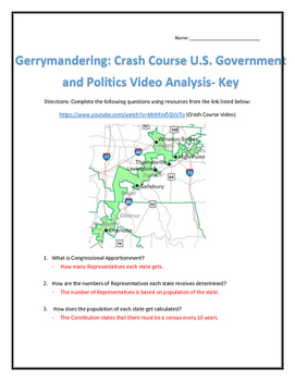 Gerrymandering: Crash Course U.S. Government and Politics Video Analysis