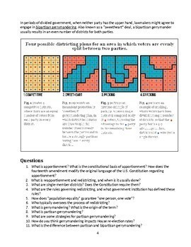 Gerrymandering Reading and Questions