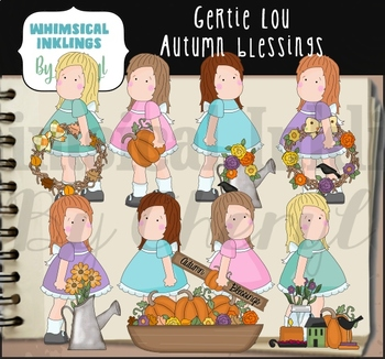 Gertie Lou Autumn Blessings Clipart Collection
