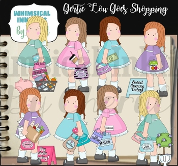 Gertie Lou Goes Shopping Clipart Collection
