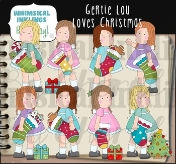 Gertie Lou Loves Christmas Clipart Collection