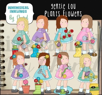 Gertie Lou Plants Flowers Clipart Collection