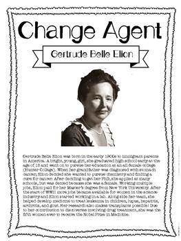 Gertrude Belle Elion! Social Studies Change Agent Mini Bio