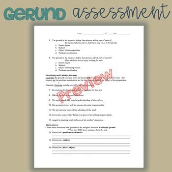 Gerund Assessment