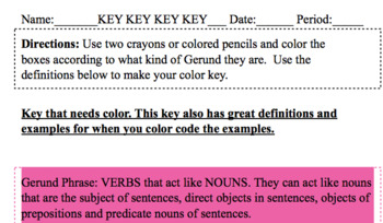 Gerund VS Participle Color Classification