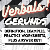 Grammar Verbals Worksheets: GERUNDS