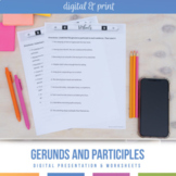 Gerund and Participle Set: Presentation, Notes, Activities