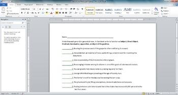 Gerund and Participle Worksheet