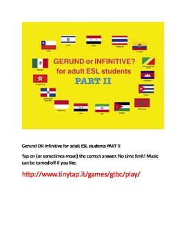 Gerund or Infinitive APP, Part 2