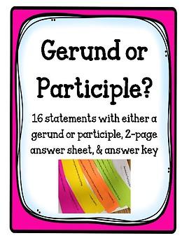 Gerund or Participle?