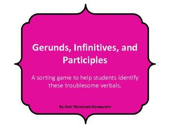 Gerunds, Infinitivies, and Participle Game