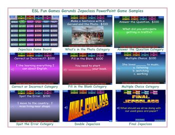 Gerunds Jeopardy PowerPoint Game