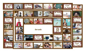 Gerunds Legal Size Photo Board Game