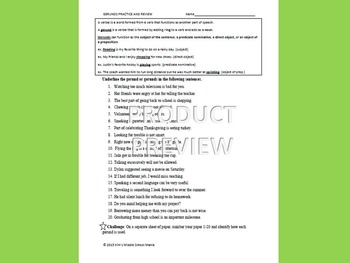 Gerunds Practice and Review