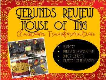 Gerunds Review - House of Ing Classroom Transformation
