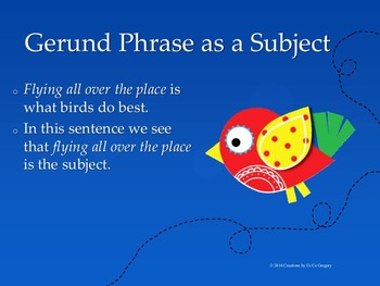 Verbals Gerunds and Gerund Phrases Student Ready No Prep Unit CCSS L.8.1a
