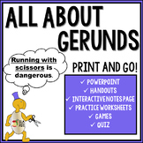 Gerunds and Gerund Phrases Ready to Use Activities, Handouts, and Quiz!