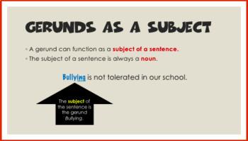 Gerunds and Gerund Phrases PowerPoint and Tasks
