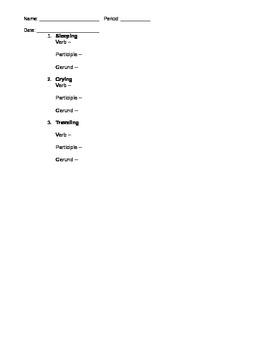 Gerunds and Gerund Phrases Practice