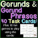 Gerunds and Gerund Phrases Task Cards ~Plus 10 Fun Games!