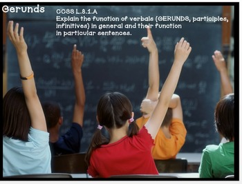 Gerunds and Their Functions Instructional Powerpoint with Student Note Pages