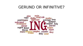 Gerunds vs Infinitives PPT - Theory & practice
