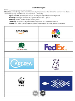 Gestalt Logo Worksheet