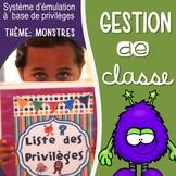 Gestion de classe: Coupons & privilèges