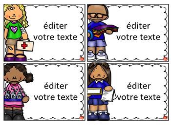 Gestion de classe: Les tâches et responsabilités / Classroom Jobs en français