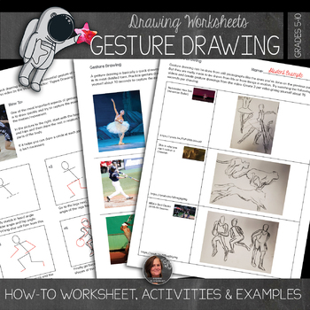 Gesture Drawing Worksheets with Student Examples