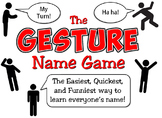Gesture Name Game: Learn Names Quickly