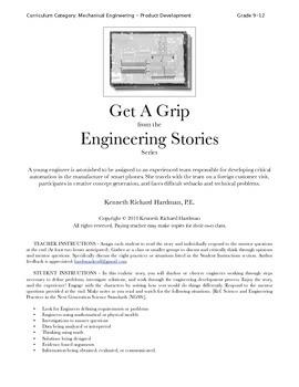 Get A Grip - Short Story Activity in Mechanical Engineering Design, Grade 9-12