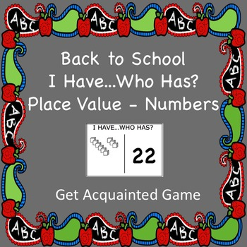 """""""I Have...Who Has?"""" Place Value-Numbers Game"""