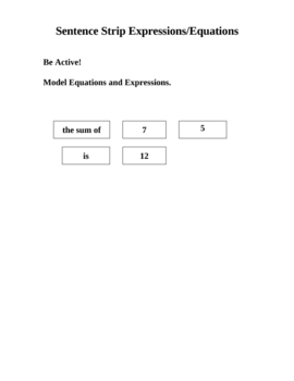 Get Active Modeling Expressions and Equations