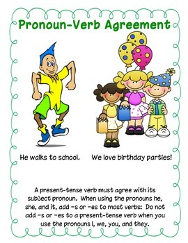 Get Along: Pronoun Verb Agreement