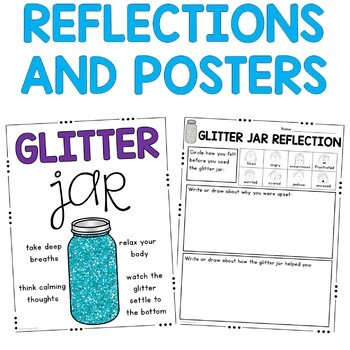 Glitter Jar: Calm Down Strategy: Social Story, Visual Posters and Reflections
