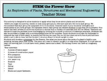 """STEM Flower Show"" - Engineer a Fantasy Plant!"