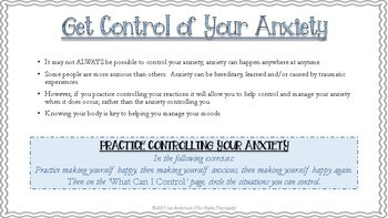 Get Control....Anxiety Management for Tweens & Teens