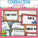Contractions- I Have Who Has plus Matching Game