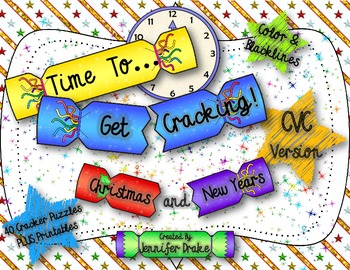 Christmas & New Year CVC Cracker Puzzles
