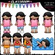 Get Dressed For Swimming Kids Clip Art & B&W Bundle (6 Sets)
