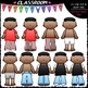 Get Dressed Kids Sequence Clip Art & B&W Bundle 1 (8 Sets)