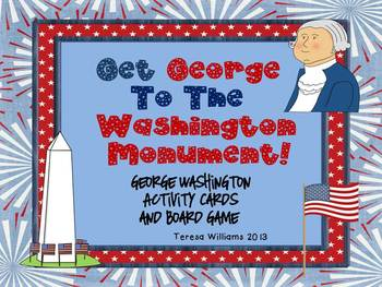 Get George To The Washington Monument Board Game and Acitivty Cards