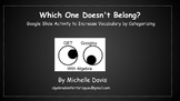 FREE ***Algebra 1:  Which One Doesn´t Belong?  Google Slid