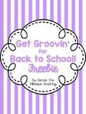 Get Groovin' for Back to School! Dance FREEBIE