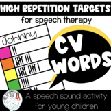 Get High Repetitions on CV Words in Speech Therapy: Boom D